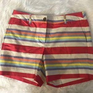 Boden striped chino shorts